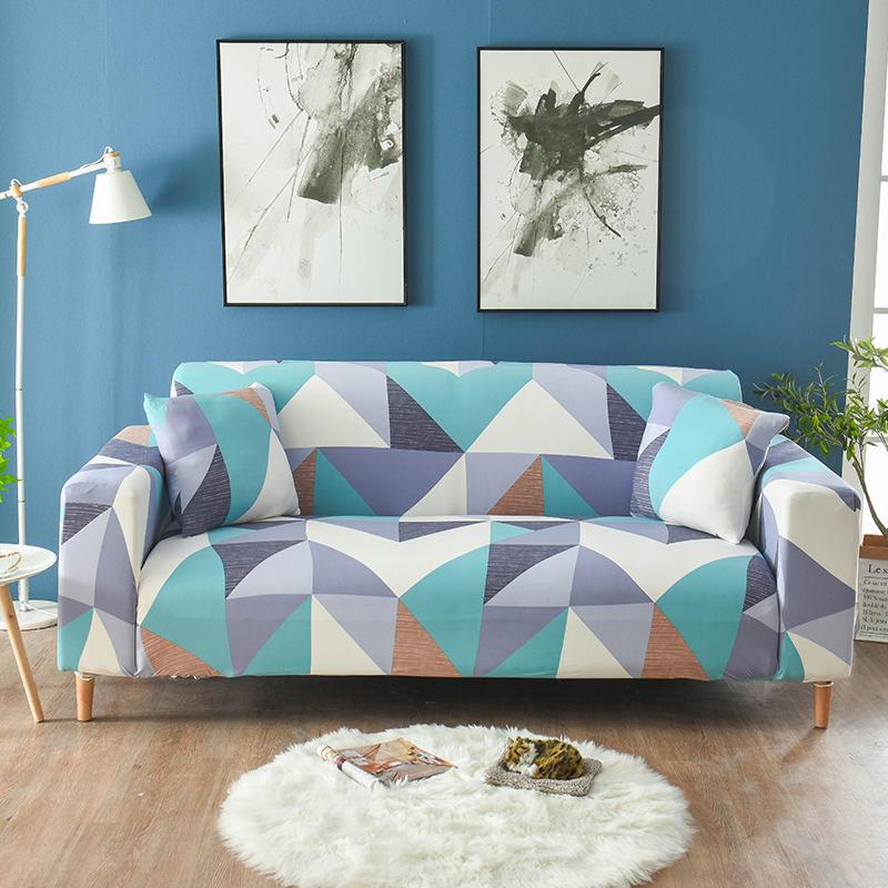 الهندسة غطاء أريكة غطاء أريكة مرنة s لغرفة المعيشة تمتد أريكة من أقطاع أغطية Fundas أريكة كرسي كوش غطاء