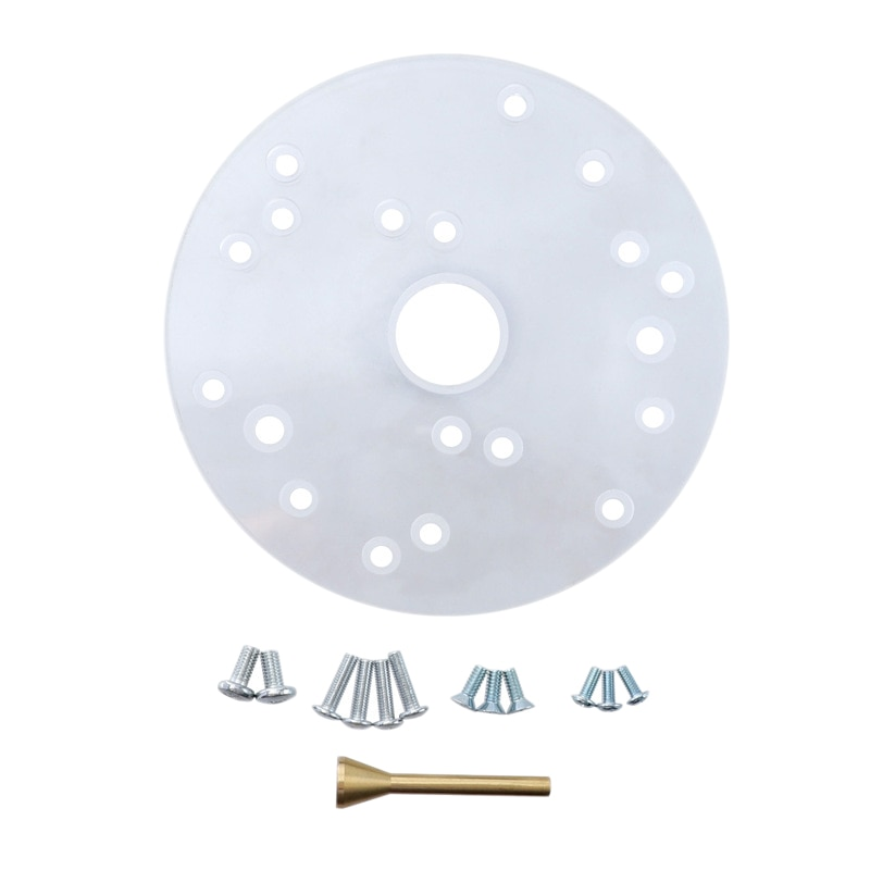 NEW-6-1/2 inch Router Acrylic Universal Base Plate for Router Porter-Cable Ryobi Makita Hitachi Dewalt