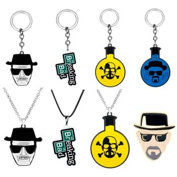 Movie Trinkets Breaking Bad BA BR Heisenberg Keychain Metal Pendant Key Ring Men Women Key Chains