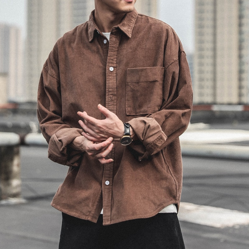 Soft Shirts for Men Sleeve Comfortable Fashion Korean Shirt Long Sleeve Button Up Casual Tops Chemise Homme Shirts BG50SS