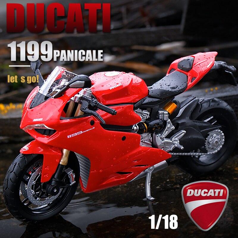 Оригинальная Авторизованная модель автомобиля Maisto 1:18 Ducati panical 1199, модель мотоцикла из сплава, Коллекционирование игрушечных автомобилей