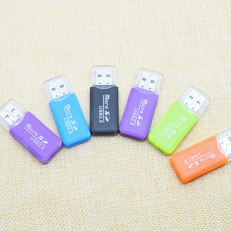 Mini USB 2.0 Card Reader For Micro SD Card TF Card Adapter Plug And Play Colourful Choose From For T