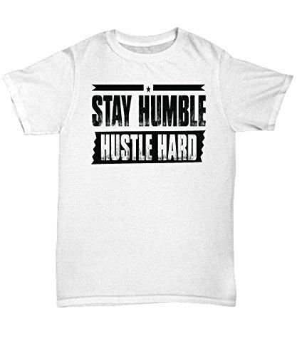 2020 verano FashionmmandiDESIGNS Stay Humble Hard camiseta Cool White camiseta diseño gráfico