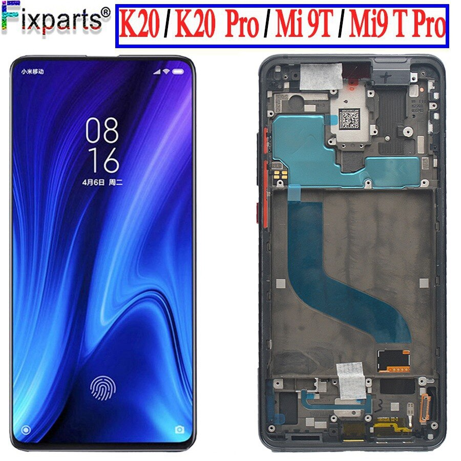 TFT/Amoled For Xiaomi Redmi K20 LCD Display Touch Screen Digitizer Assembly For Xiaomi Mi 9t LCD For Xiaomi Redmi K20 Pro LCD amoled lcd display for xiaomi mi 9t display with frame