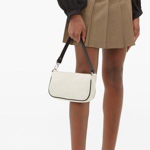Casual 2020 Vintage Women Baguette Bag Female Hobos Handbags Ladies Small Shoulder Bags Designer Zipper Oxter Axillary Bag Purse