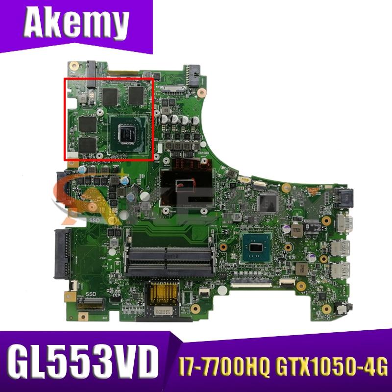 Promo GL553VD Laptop motherboard for ASUS ROG Strix GL553VD GL553VE FX53VD ZX53V GL553V original mainboard I7-7700HQ GTX1050-4G
