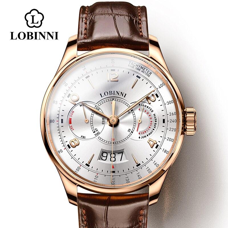 سويسرا LOBINNI-ساعات رجالية ، ماركة فاخرة ، ساعة يد رجالية ، مقاومة للماء ، Miyota ، أوتوماتيكية ، ميكانيكية ، ذكر ، هدية