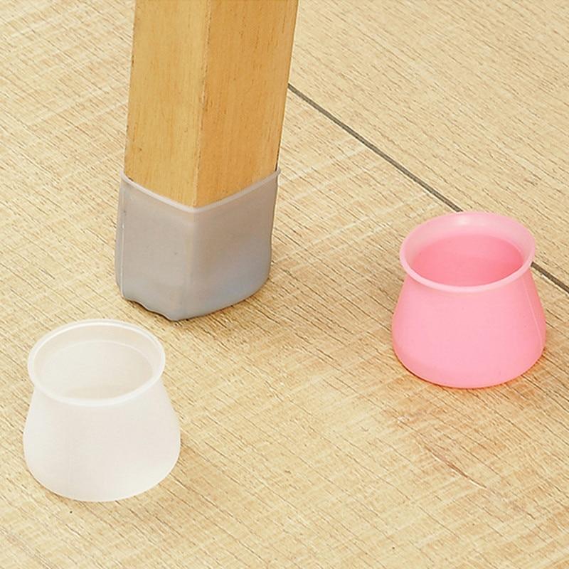 Tapones Cuadrados redondos de silicona para patas de sillas, antideslizantes, protectores de polvo para pies y mesas, almohadillas protectoras para el suelo, tapones para tuberías, pies niveladores para muebles
