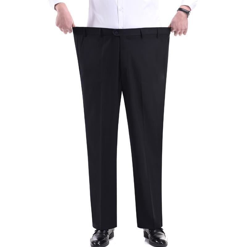 Calças de Trabalho Roupa de Trabalho Reto de Gordura Vestido de Negócios Formais para Homem Masculinas Tamanho Grande Adicionar Tubo Solto Trabalho Masculino Calças