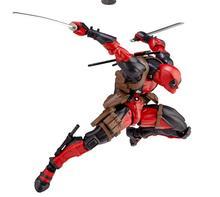 Increíble figura de acción Revoltech Deadpool x-men juguete para regalo 16cm colección J062