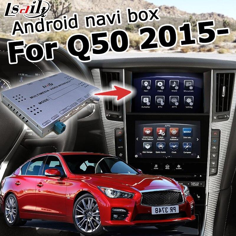 Interfaz Android / carplay para Infiniti Q50 Q60 caja de interfaz de vídeo con navegación GPS youtube waze yandex de Lsailt