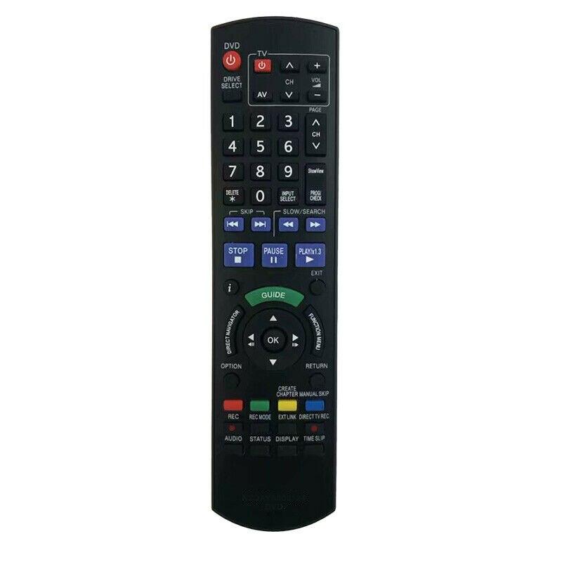 Mando a distancia compatible con Panasonic, DMR-XW350, DMR-XW380, DMR-XW385, DMR-XW450, DMR-XW480, Blu-Ray, grabadora de DVD