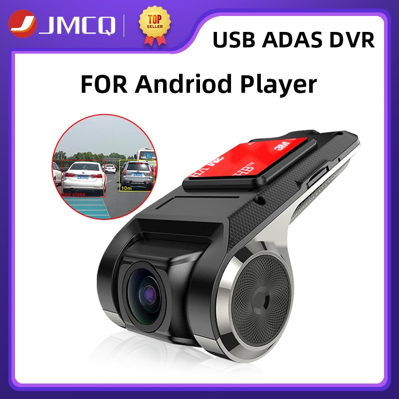 JMCQ USB ADAS Car DVR Dash Cam HD For Car DVD Android Player Navigation Floating Window Display LDWS