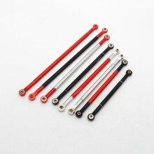 2PCS Climbing Car Pull Rod 85/95/105/115/125mm Aluminum Alloy DIY Steering Rods 3mm Tie Rod for RC C
