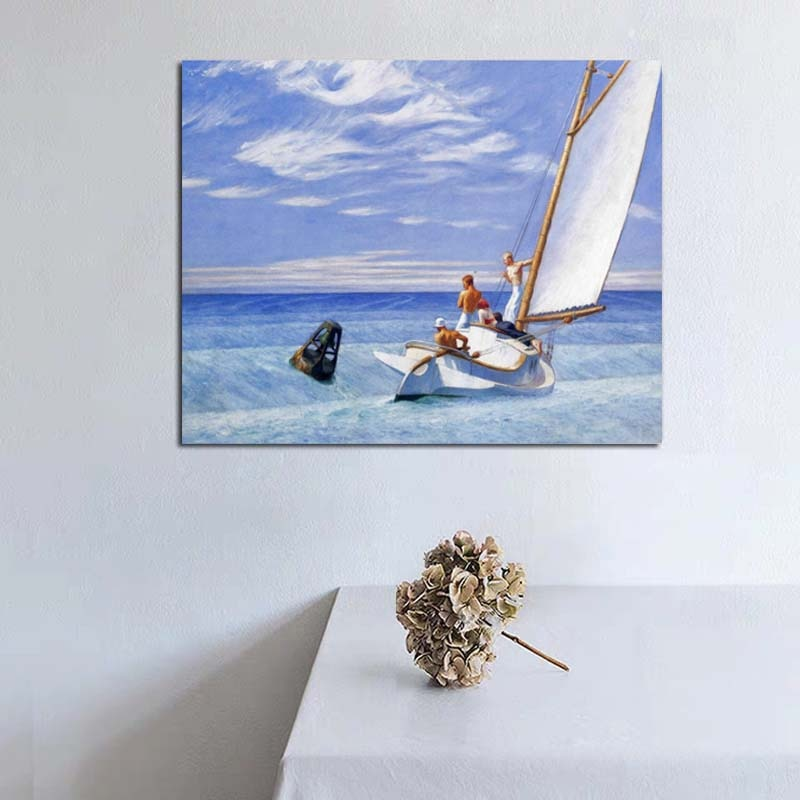 Cuadro sobre lienzo para pared con estampado de Edward Hopper, cuadros modernos para decoración del hogar y la sala de estar