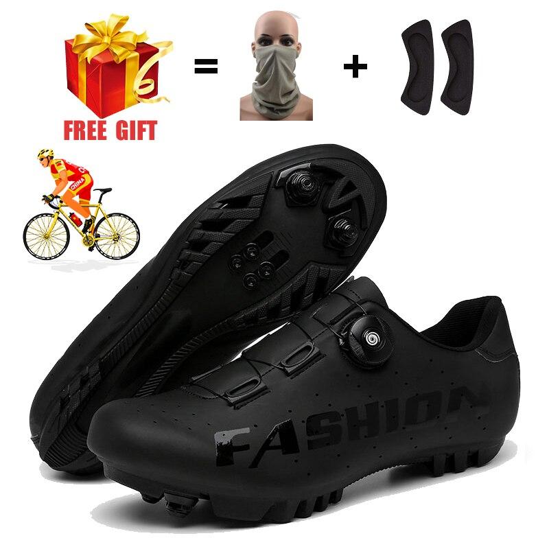 Men Flat Road Race Triathlon Route SPD Cycling Sneakers Male  Specialized Biking Footwear Women MTB