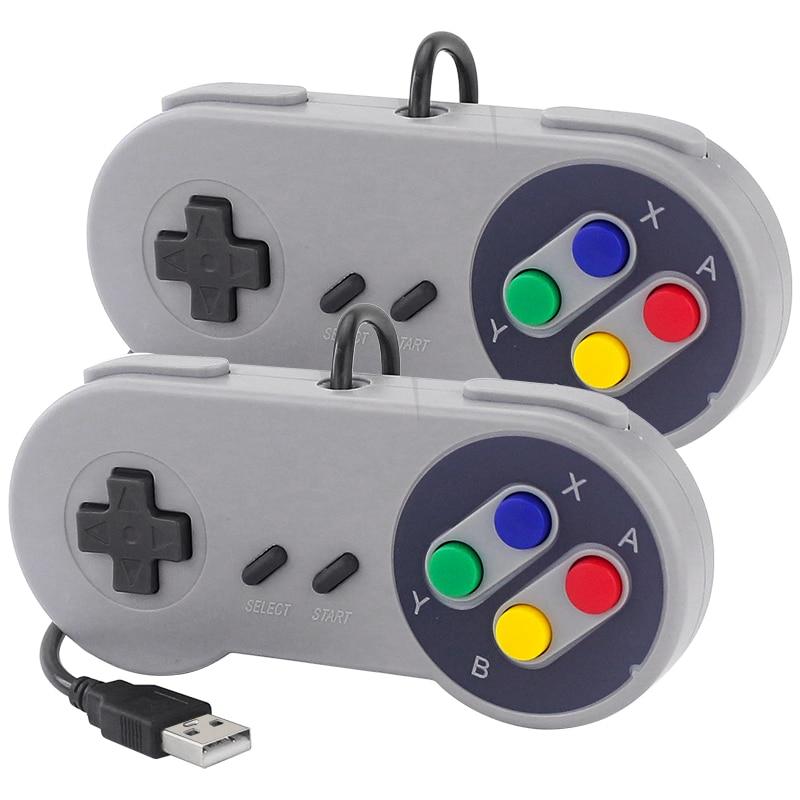 2PCS USB Gamepad Gaming Joystick SNES Game Controller Retro Gamepads for PC NESPi RetroPie Game Cont