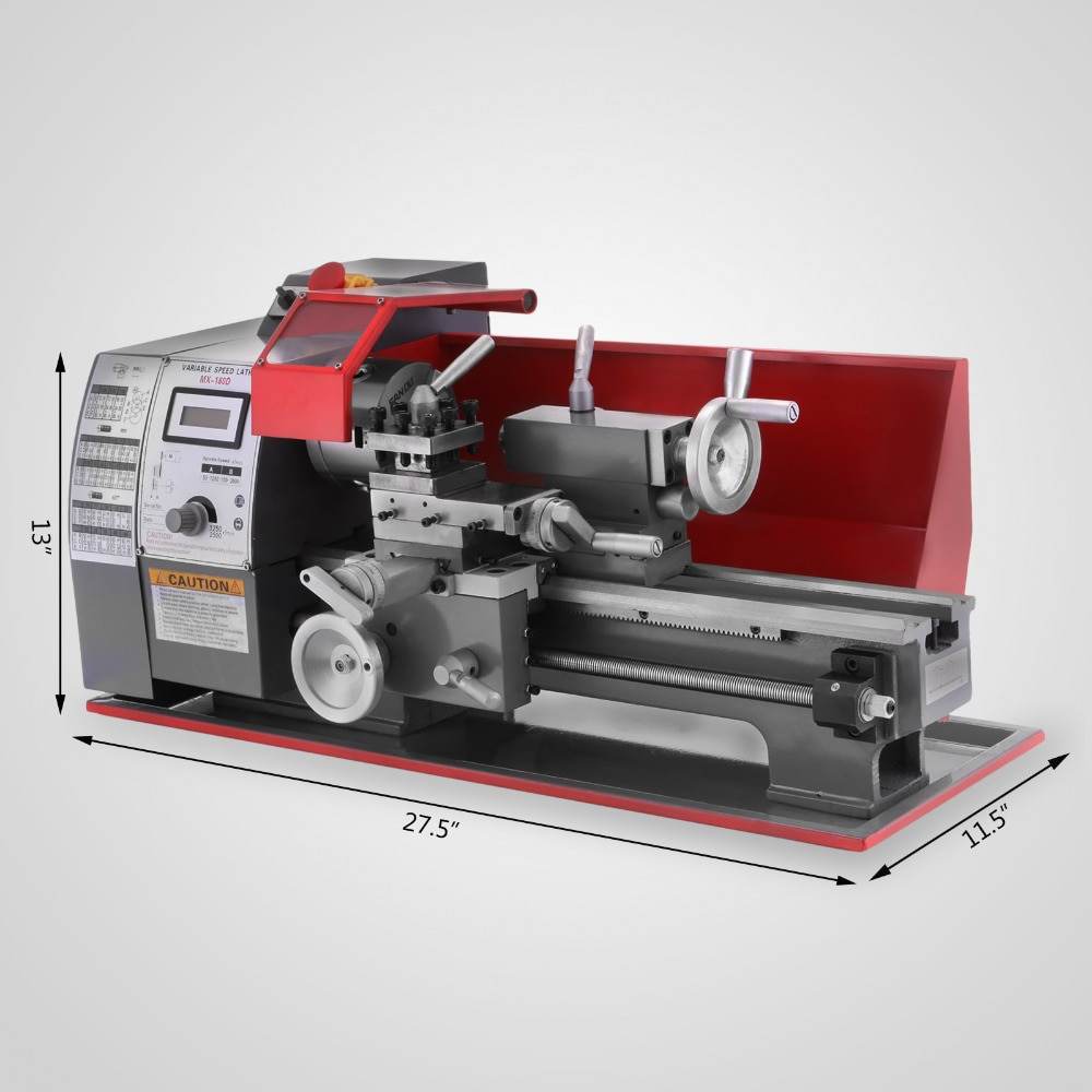 180 multifunctional lathe horizontal stainless steel woodworking machine tool small household micro lathe metal lathe processing