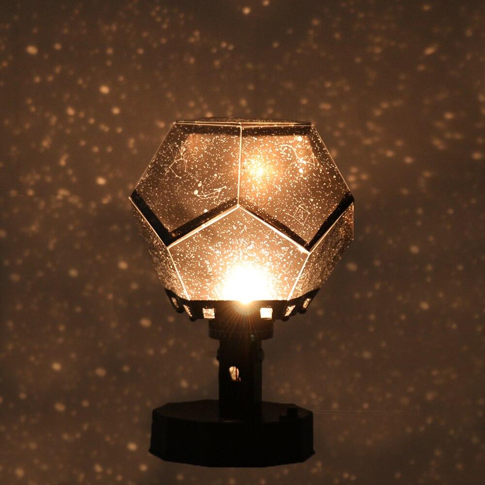 Romántico planetario estrella proyector luz de noche LED lámpara de proyección para el hogar planetario decoración niños dormitorio regalo DIY Luz