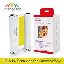 Cartouche dencre King pour imprimante Photo couleur, 6 pouces, KP-108IN KP-36IN, pour Canon Selphy CP1300, CP1200, CP1000, CP910, CP900
