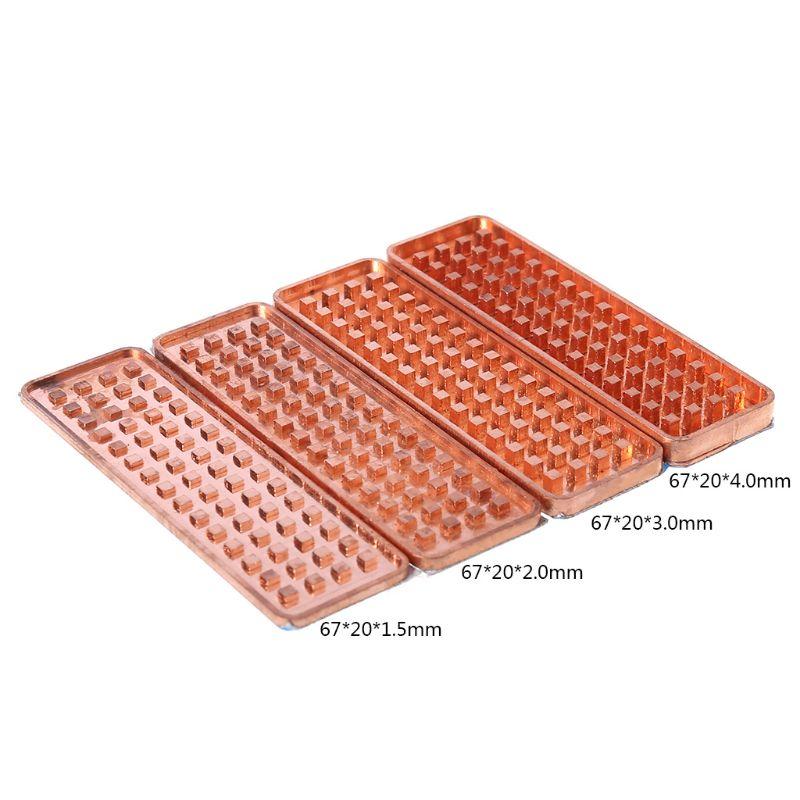 Nouveau NVME NGFF M.2 dissipateur thermique 2280 SSD feuille de métal conductivité thermique Silicone gaufrette ventilateur de refroidissement cuivre dissipateur thermique