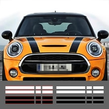 Autocollants pour coffre arrière Mini Cooper R56 R57 R58 F54 F55 F56   Autocollant de ligne à rayures pour le capot de moteur de style de voiture, autocollants en vinyle pour coffre arrière