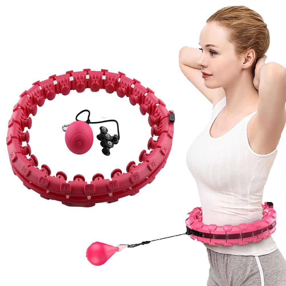 Intelligent Counting Fitness Sport Hoop Smart Sport Hoop Adjustable Thin Waist Exercise Gym Hoop Fitness Equipment Home Training