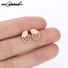 Cxwind Fashion Tiny Conch Animal Earrings For Women School Girl Geometric Stud Earring Birthday Gift