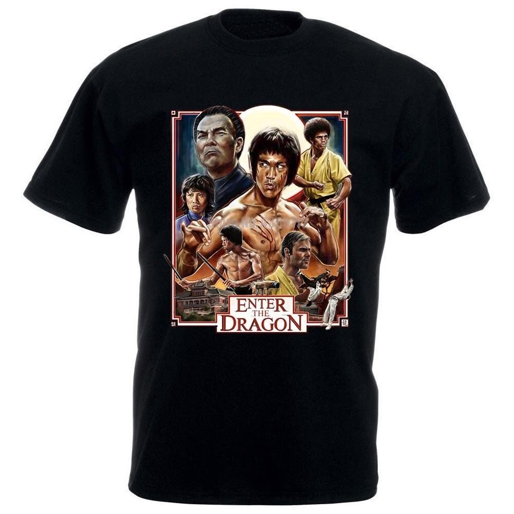 Entrar en la camiseta de dragón Bruce Lee blanco Rojo Negro todos los tamaños S 4Xl