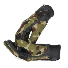 Mens Lightweight Summer Breathable Tactical Gloves Riding Non-slip Wearable Full Finger and Half Fin
