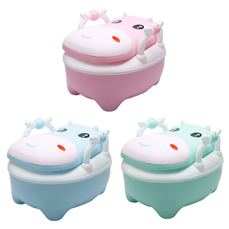 Soft Baby Potty Toddler Toilet Training Seat Large Anti-Slip Base Easy to Clean Kids Safe Road Pot