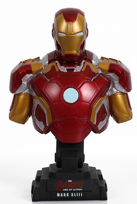 Manualidades creativas, modelo de artículos de decoración, Unión de Ultron, Iron man, busto de Color redondo, modelo está decorado con escultura de estatuilla