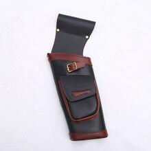 Reverse Pfeil Köcher 46*18Cm Echtem Leder Tasche Halten Pfeil für Bogenschießen Jagd Schießen