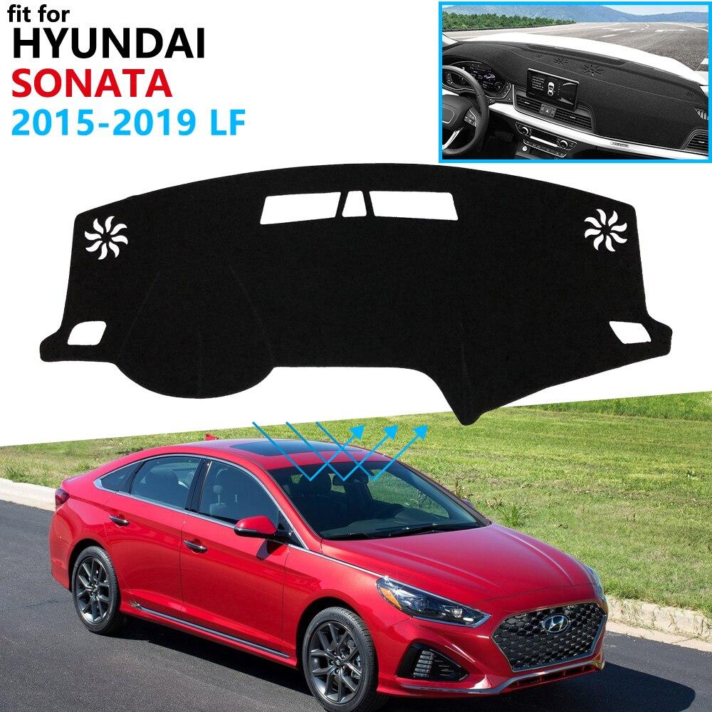 Dashboard Cover Protective Pad for Hyundai Sonata 2015 2016 2017 2018 2019 LF Car Accessories Dash Board Sunshade Anti-UV Carpet
