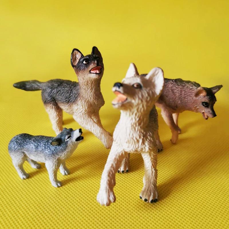 1 Pcs/cute fox/evil wolf/miniatures/figurine/lovely/fairy garden gnome/terrarium decoration/cute//toy/model