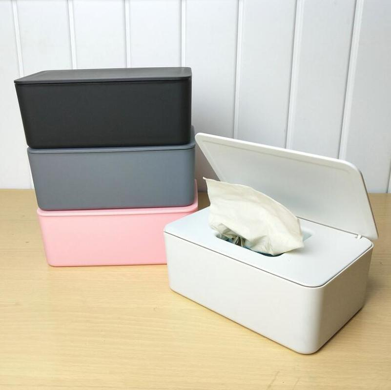 Tissue Box Wet Wipes Dispenser Holder Dry Wet Tissue Paper Case Box Wipes Napkin Storage Box Holder Container