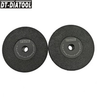 DT-DIATOOL 2pcs Dia105mm/4 M14 Vacuum Brazed Diamond Flat Grinding Wheel For Grinding Shaping Beveling Granite Marble Concrete