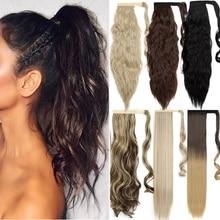 S-noilite sintetico 30 colori Clip In coda di cavallo estensione dei capelli capelli finti coda Hairpiece avvolgere coda di cavallo Hairpiece per le donne