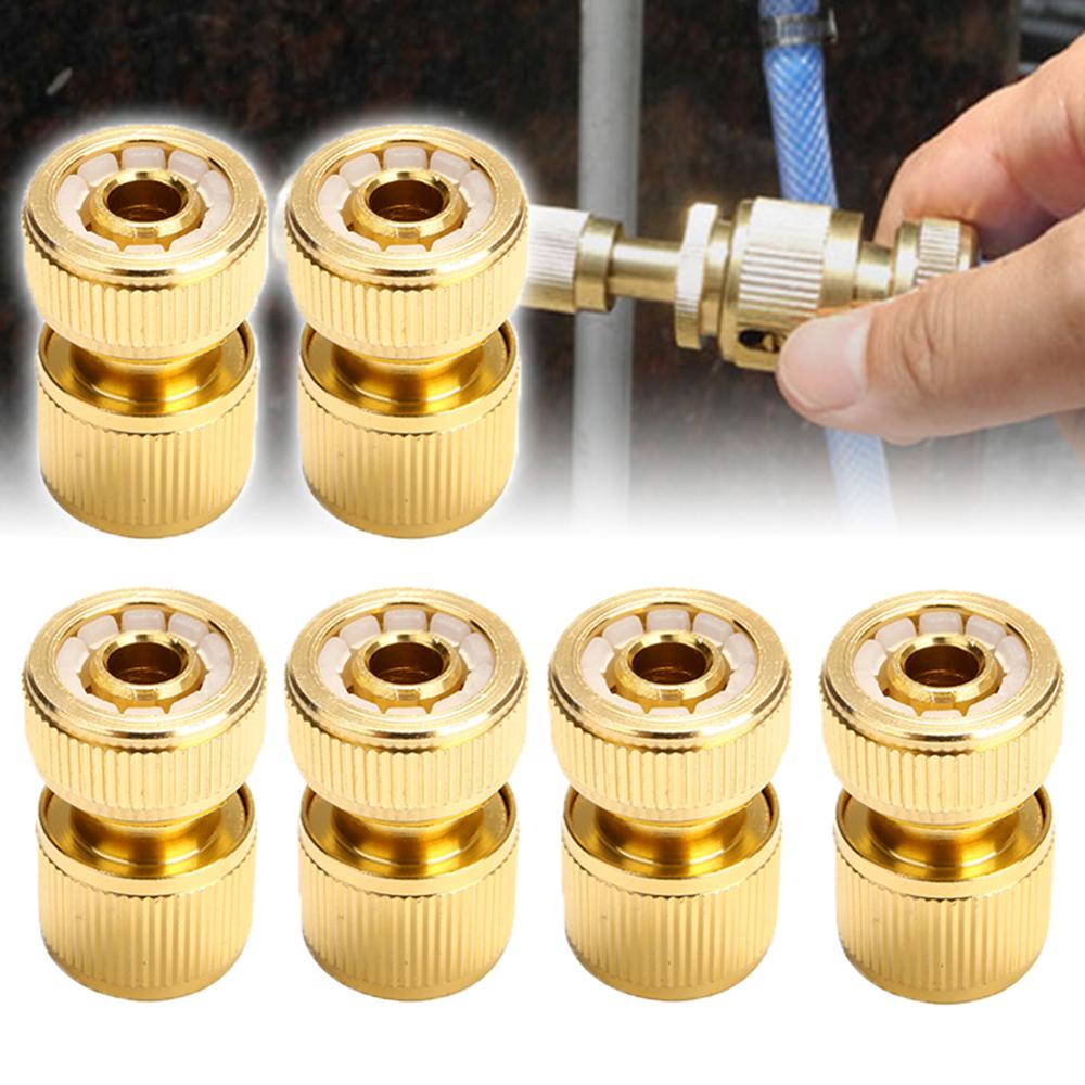 1/2 Quick Connect Swivel Connector Garden Hose Coupling Systems for Watering Irrigation Brass-Coated Hose Adapter 5pcs 1 2 green hose joint coupling connector for garden irrigation balcony flowers garden water connector