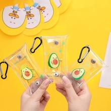 1 pièces mignon Fruit avocat Transparent étanche porte-monnaie portefeuille poche sac porte-clés écouteur sac papeterie crayons sacs