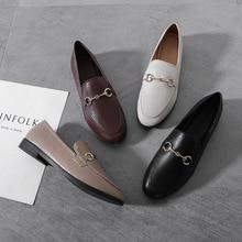 Round Toe Women Loafer Shoes Ladies Flats Shose High Quality Black Shoes Mocassins Plus Size Women S
