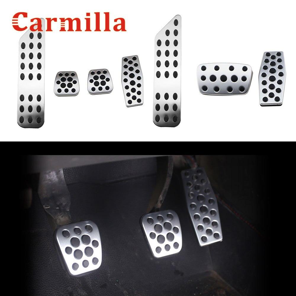 Carmilla Manual de acero inoxidable embrague Acelerador de frenos pie pedal para Chevy Chevrolet Cruze en MT modificado Accesorios