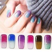Paillettes thermique couleur changeante Gel vernis à ongles température changement de couleur tremper UV Gel vernis bricolage Art des ongles décor 8ml