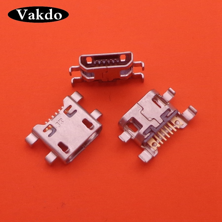 100 unids/lote para LG K8 VS500 AS375 Leon H340 H345 G4c H525N Micro MINI Usb conector de carga Puerto Jack Dock Plug
