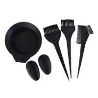 5pcsset hairdressing salon hair color dye bowl comb brushes kit for hair coloring dyeing
