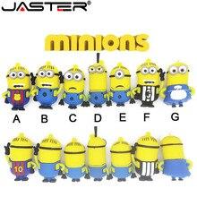 JASTER populaire et mignon Pendrives Minions USB lecteur Flash mémoire USB stylo lecteur 4GB 8GB 16GB 32GB 64GB USB 2.0 cadeaux Cle USB disque