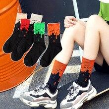 Reine Baumwolle Socken Männer und Frauen In Die Vier Jahreszeiten von Vielseitigen Sport High Top Straße Kurve Spleißen Strümpfe Männlichen mode 27