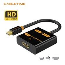 Câble Mini DP vers HDMI adaptateur M/F Thunderbolt Mini DisplayPort vers HDMI câble pour MacBook Pro Air iMac 1080p projecteur N020