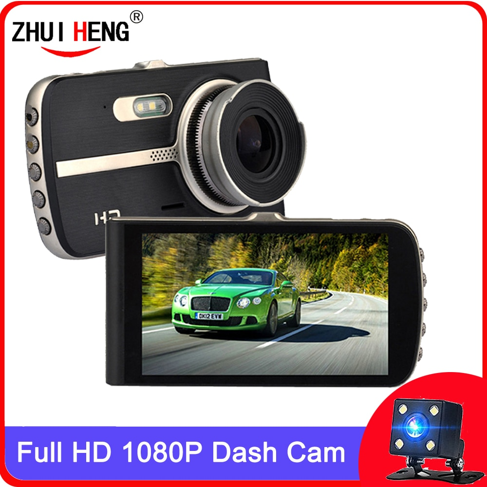 car camera  Dash Cam Car DVR Camera Full HD 1080P Drive Video Recorder Registrator Auto Dashboard Dual Dashcam Black DVRs Box