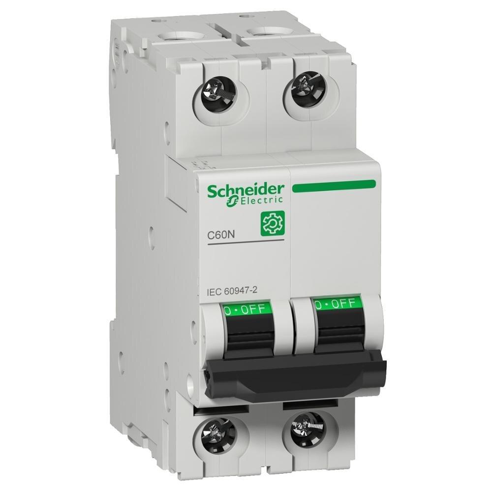 AC DC 2P miniature circuit breaker power distribution protection C60N tripping curve B 25A 32A 40A 50A 63A 415V 10KA 50/60Hz